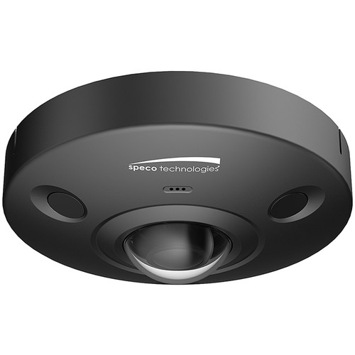Speco Technologies 6MP 360 Degree Outdoor Dome, 1.5mm Lens, IR, Junction Box (Black Housing)