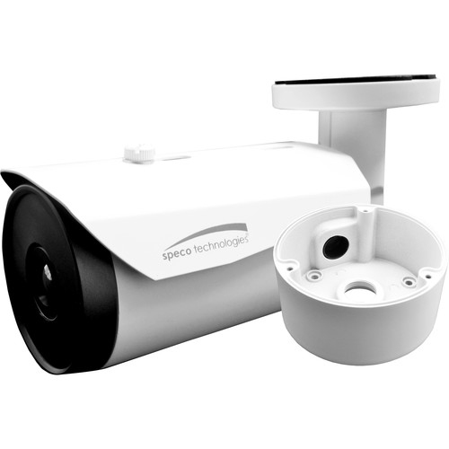 Speco Technologies Thermal Bullet IP Camera, 19mm Lens, with Junction Box (White Housing)