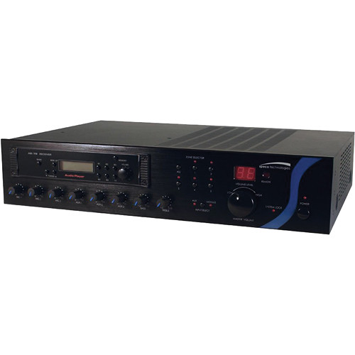 Speco Technologies PBM60AT - 60W RMS P.A. Amplifier With AM/FM Tuner