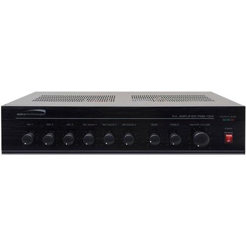 Speco Technologies Contractor Series 120W RMS Public Address Power Mixer Amplifier