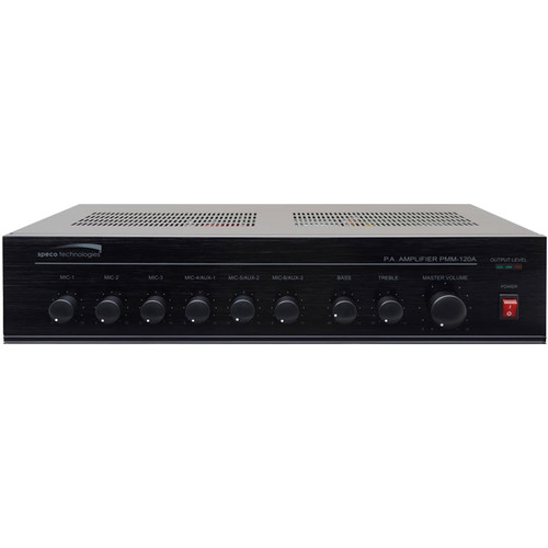 Speco Technologies Contractor Series 60W RMS Public Address Power Mixer Amplifier