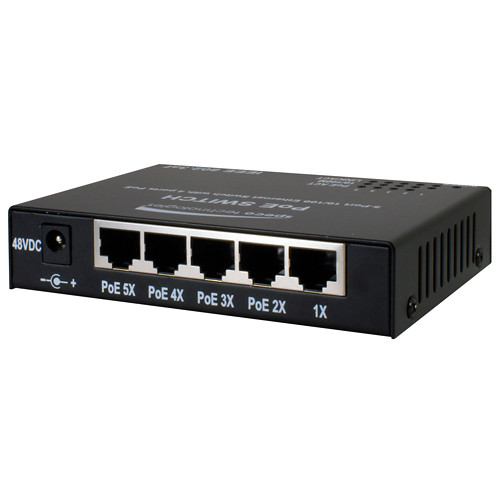 Speco Technologies 5-Port 10/100 Ethernet Switch