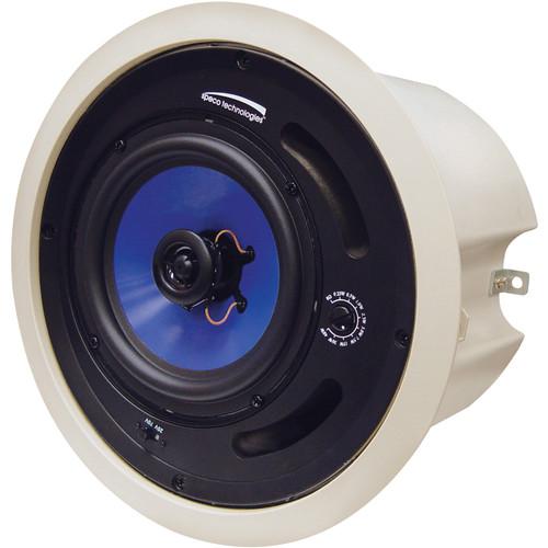 """Speco Technologies SP6MAT 6.5"""" 70/25V Commercial ABS Plastic Back Can Speaker (Off-White)"""