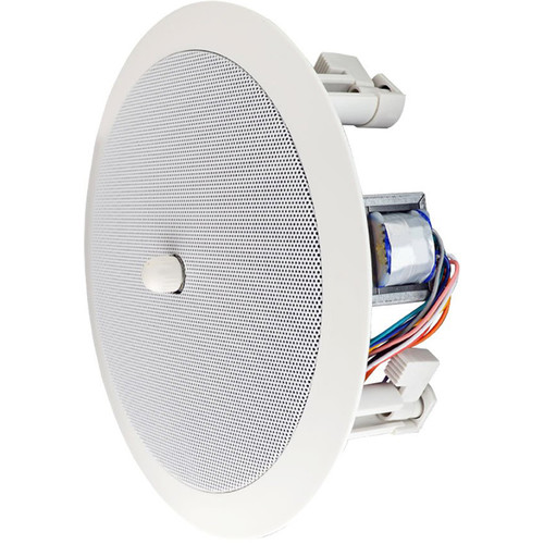 """Speco Technologies 86 Series 6"""" In-Ceiling 70/25V Contractor Speaker with Volume Knob (Off-White)"""