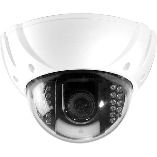 Speco Technologies 650 Series Vandal- & Weather-Resistant D/N Color Dome Camera with Anti-Reflection Technology & 2.8 to 12mm Lens (White Housing, NTSC)