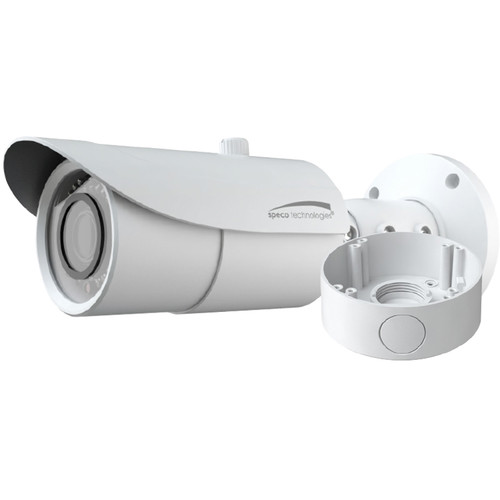 Speco Technologies 2MP HD-TVI Bullet Camera, IR, 2.8-12mm Lens, with Junction Box (White Housing)