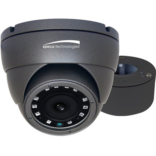Speco Technologies VLDT4G 2MP Outdoor Analog HD Turret Camera with Night Vision (Dark Gray)