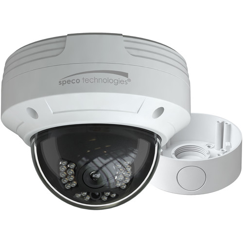 Speco Technologies 2MP HD-TVI IR Dome Camera with 2.8 Fixed Lens and Junction Box (White)