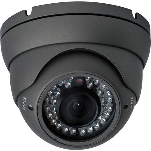 Speco Technologies Indoor/Outdoor IR, 4 to 9mm Varifocal Turret Camera, (Dark Gray)