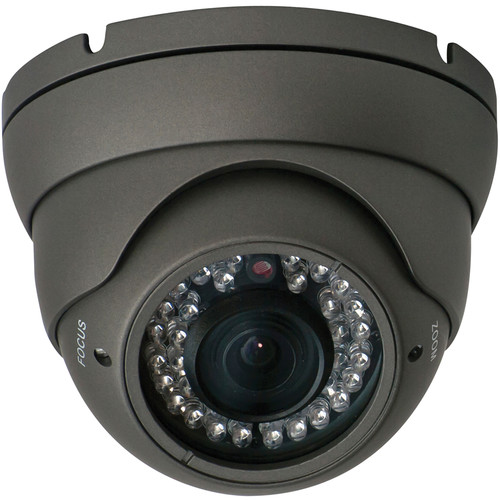 Speco Technologies VLEDT2H 960H Outdoor Turret Camera with Night Vision (Dark Gray)