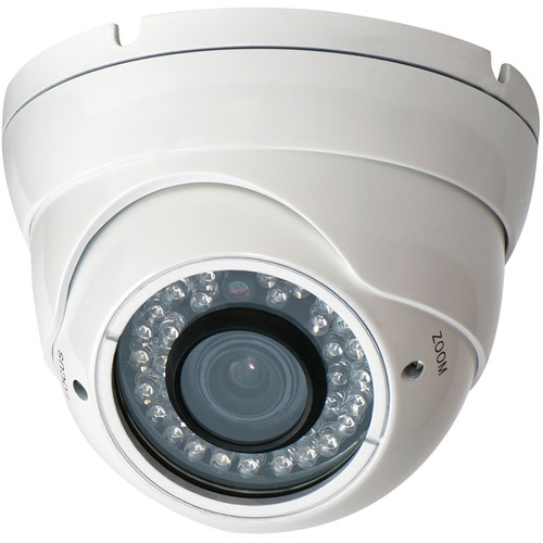 Speco Technologies VLEDT2H 960H Outdoor Turret Camera with Night Vision (White)