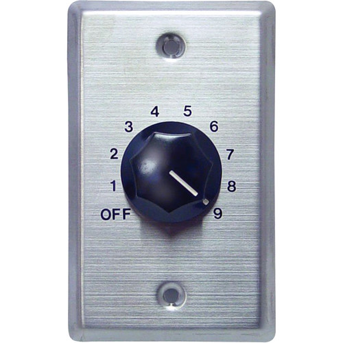 Speco Technologies 10W 70/25V Wall Plate Volume Control (Silver and Black)