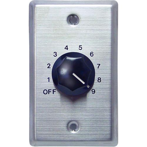 Speco Technologies WAT50 - 50W Wall-Mount Volume Control (Silver Plate, Black Knob)