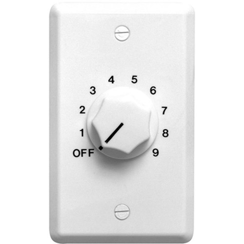 Speco Technologies 50W 70/25V Wall Plate Volume Control (White)