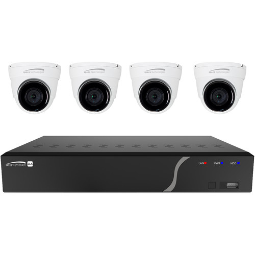 Speco Technologies 4-Channel 5MP NVR with 1TB HDD & 4 5MP Outdoor Network Turret Cameras