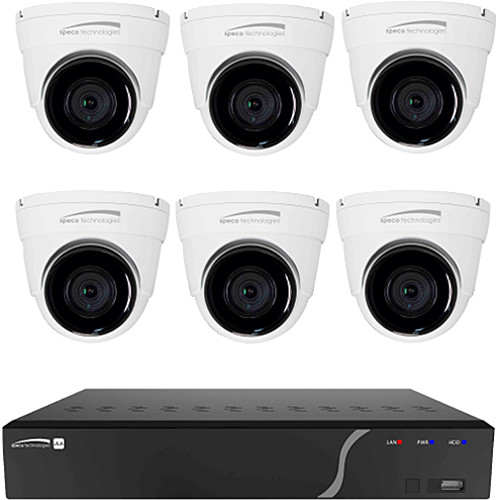 Speco Technologies 8-Channel 5MP NVR with 2TB HDD & 6 x 5MP Outdoor Network Turret Cameras