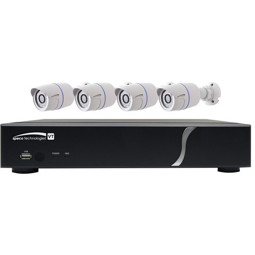 Speco Technologies 4-Channel 1080p DVR with 1TB HDD and 4 1080p Bullet Cameras