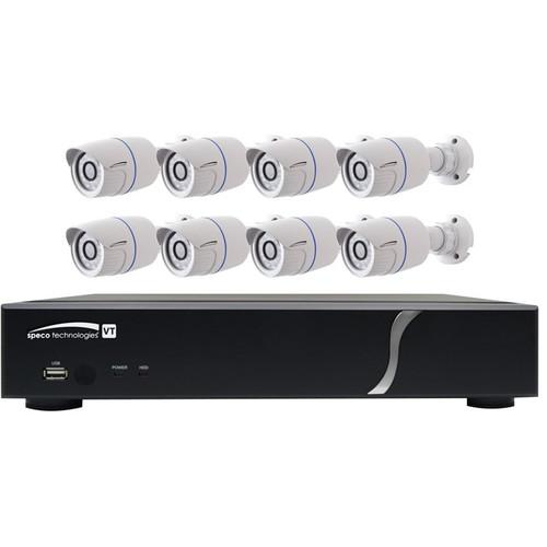 Speco Technologies ZIPT88B2 8-Channel HD-TVI Digital Video Recorder and 8 HD-TVI Bullet Camera Kit (White)