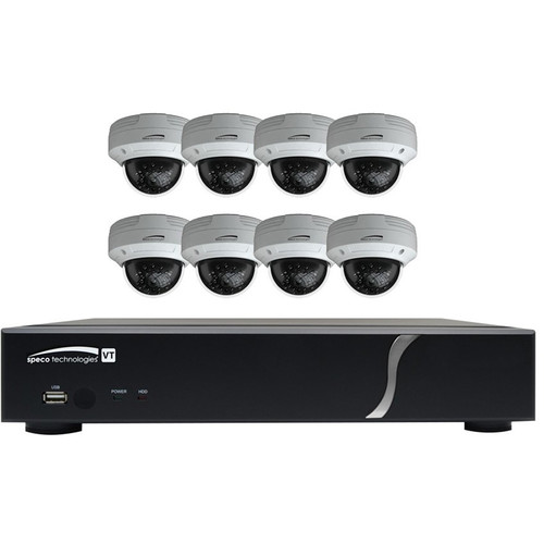 Speco Technologies 8-Channel 1080p DVR with 2TB HDD and 8 1080p Dome Cameras