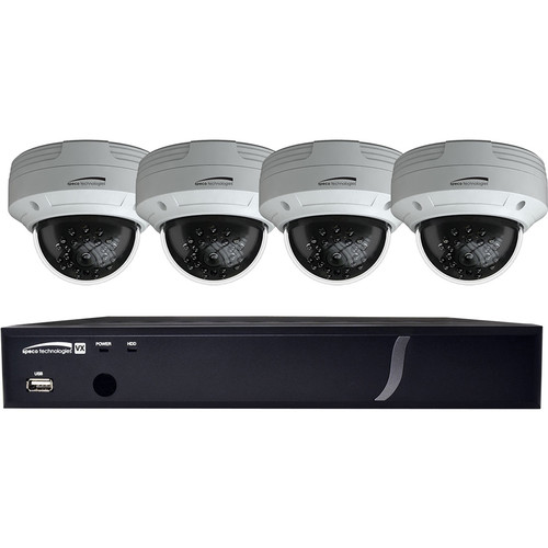 Speco Technologies 4-Channel 4MP HD-TVI DVR with 1TB HDD & 4 2MP HD-TVI Dome Cameras