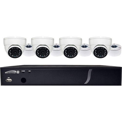 Speco Technologies 4-Channel 4MP HD-TVI DVR with 1TB HDD & 4 2MP HD-TVI Turret Cameras