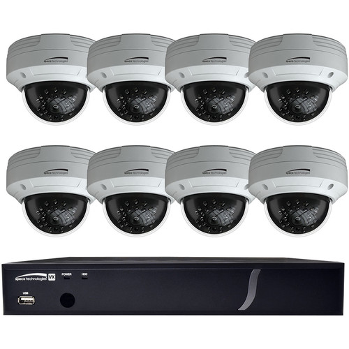 Speco Technologies 8-Channel 4MP HD-TVI DVR with 2TB HDD & 8 2MP HD-TVI Dome Cameras