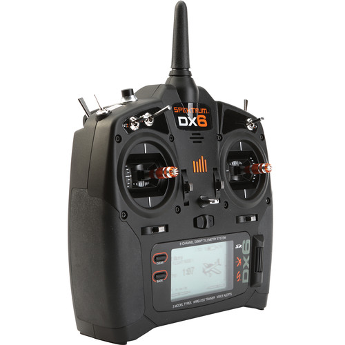Spektrum DX6 6-Channel DSMX Transmitter for RC Aircraft (Modes 1 - 4)