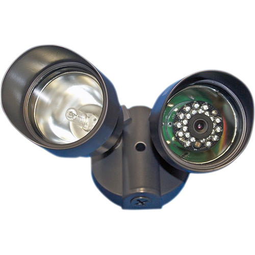 Sperry West SPSWIR1202 Dual Floodlight IR Day/Night Covert Color Wired Camera with 3.6mm Lens
