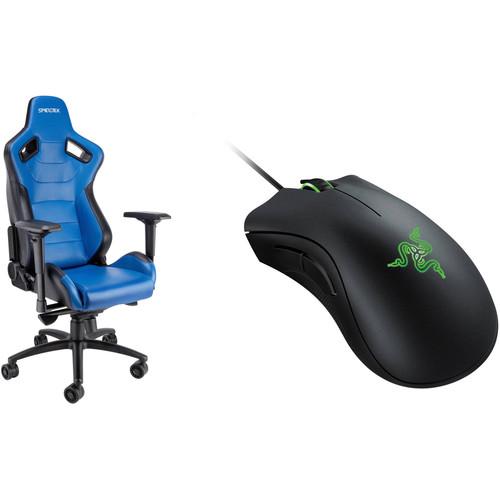 Spieltek Admiral Gaming Chair & Razer DeathAdder Gaming Mouse Kit (Black)