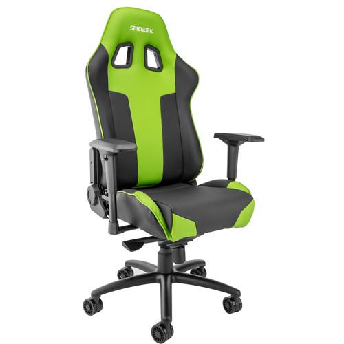 Spieltek Bandit XL Gaming Chair & Razer DeathAdder Gaming Mouse Kit (Green)