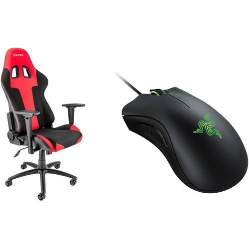 Spieltek Berserker Gaming Chair & Razer DeathAdder Gaming Mouse Kit (Black)
