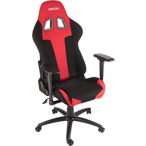 Spieltek Berserker Gaming Chair V2 (Fabric, Red)