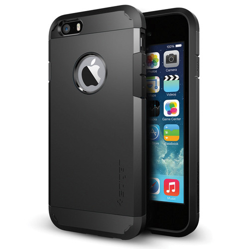 Spigen Tough Armor Case for iPhone 6/6s (Smooth Black)