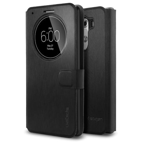 Spigen Flip View Case for LG G3 (Metallic Black)