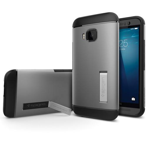 Spigen Slim Armor Case for HTC One M9 (Gunmetal, Retail Packaging)