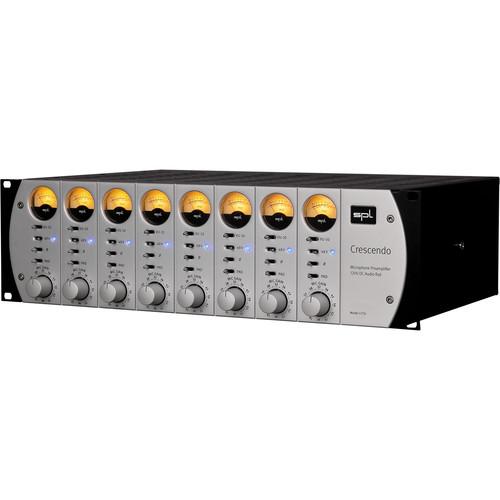 SPL Crescendo 8-Channel Microphone Preamplifier (Silver)