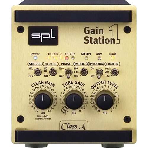SPL GainStation 1 Single-Channel Mic & Instrument PreAmp with A/D Converter