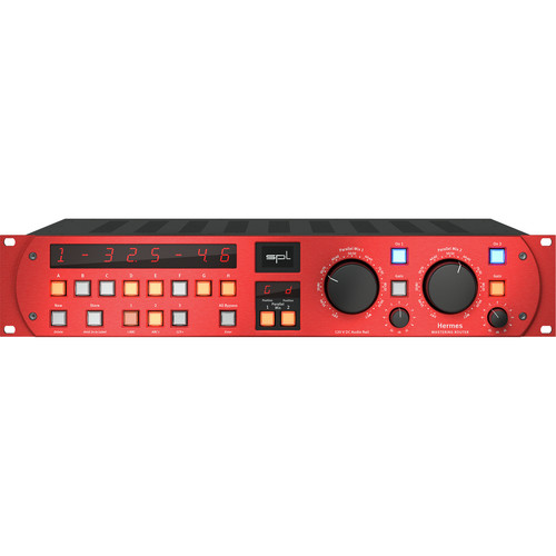 SPL Hermes Mastering Router with Dual Parallel Mixes (Red)