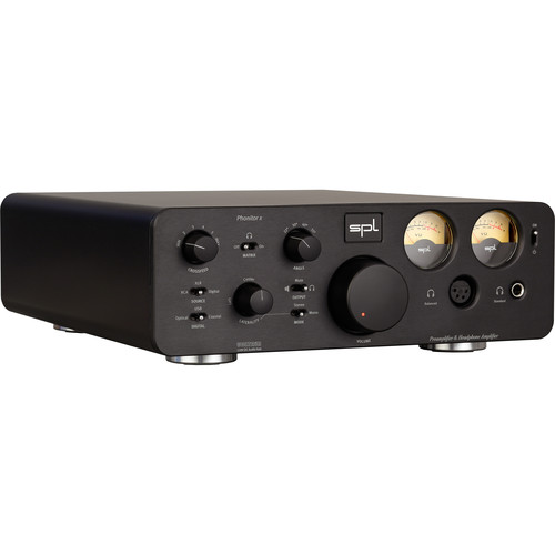 SPL Pro-Fi Series Phonitor x Headphone Amplifier & Preamplifier with DA Converter and VOLTAiR Technology (Black)