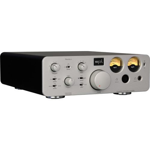 SPL Pro-Fi Series Phonitor x Headphone Amplifier & Preamplifier with DA Converter and VOLTAiR Technology (Silver)