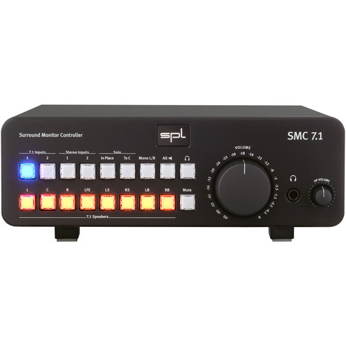 SPL 7.1 Surround Monitor Controller for Analog Audio Sources (Black)