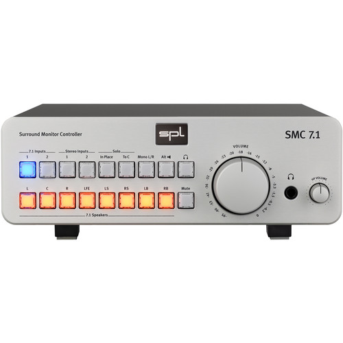 SPL 7.1 Surround Monitor Controller for Analog Audio Sources (Silver)