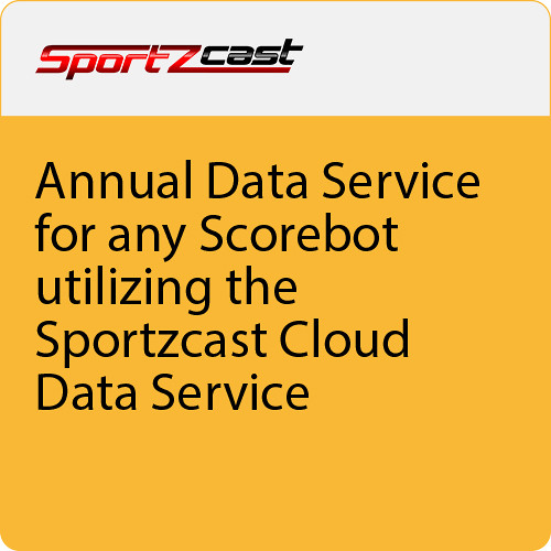 Sportzcast Annual Cloud Data Service Software Subscription for ScoreBot (Download)