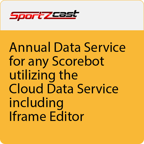 Sportzcast Annual Data Service For Any Scorebot Utilizing the Cloud Data Service Including IFrame Editor