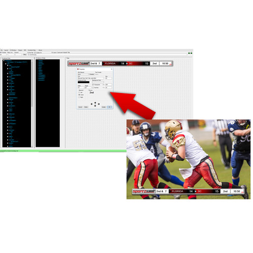 Sportzcast LiveSportzCG Real-Time Graphic Overlay Software (Download, Requires Purchase of Any Sportzcast Scorebot)