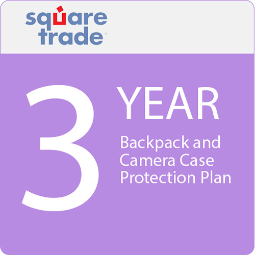 SquareTrade 3 Year Backpack And Camera Case Protection Plan 25-49.99