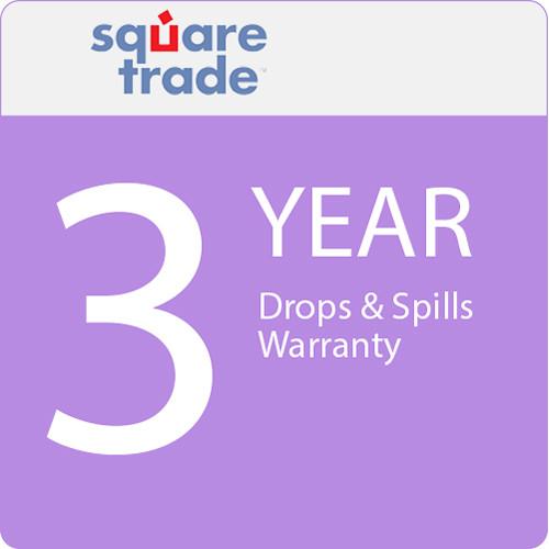SquareTrade 3 Year Drops & Spills Warranty for Tablets Valued $2500-2999.99