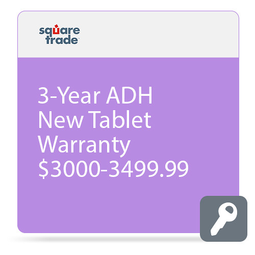 SquareTrade 3-Year Drops and Spills Warranty for Select Tablets & eReaders ($3000 to $3,499.99 Coverage)