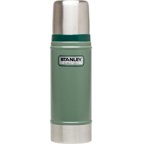 Stanley Classic 16 oz Vacuum Bottle (Hammertone Green)