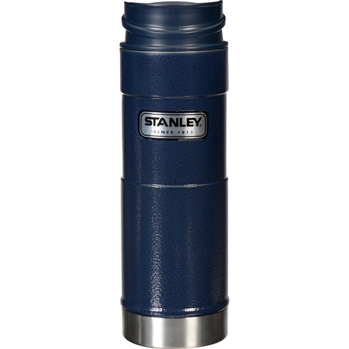 Stanley Classic One Hand Vacuum Mug (16 oz, Navy)